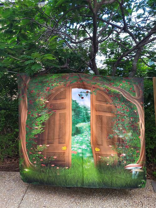 Secret rose garden backdrop