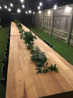 Rustic timber tables