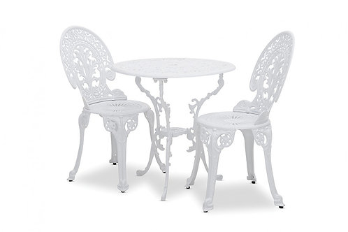 White lace signing chair and table