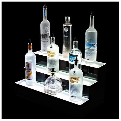 Illuminated bottle shelf