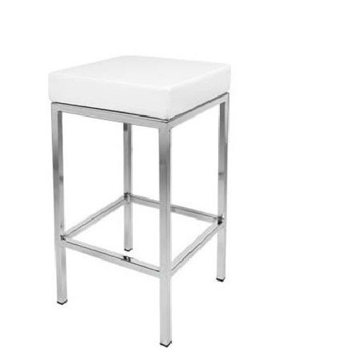 Bar stool - White & chrome - 69cm