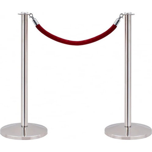 Bollard (not including red velvet rope)