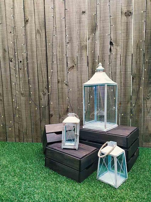Vintage Tiffany Blue Lanterns