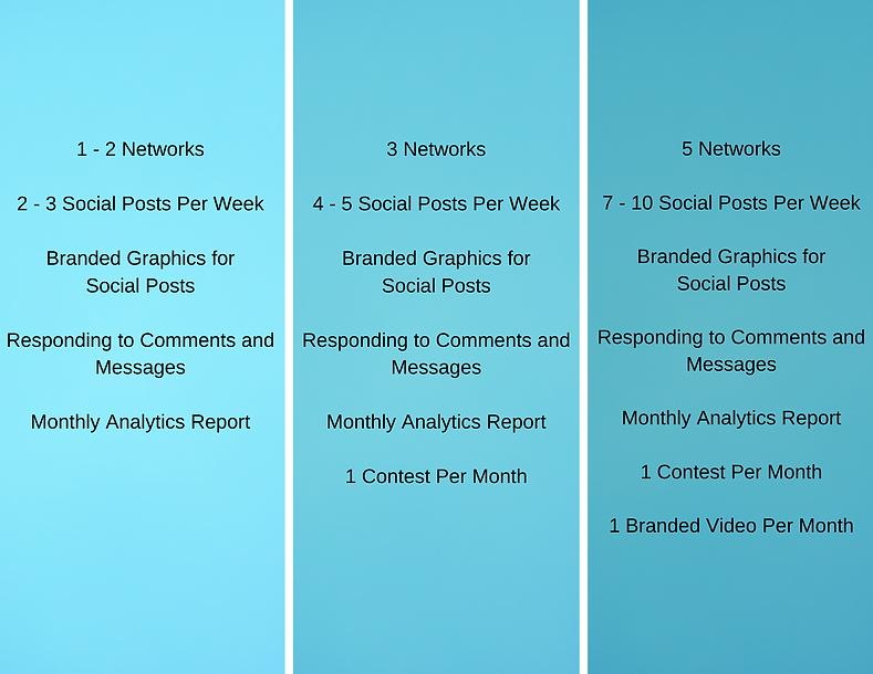 1 - 2 Networks 2 - 3 Social Posts Per We