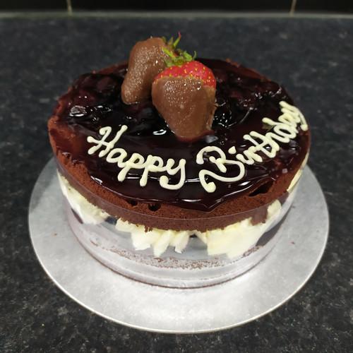 6 Birthday Black Forest Gateau