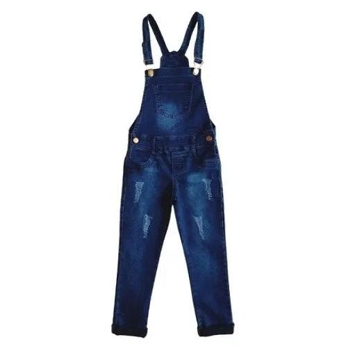 Jardineira Infantil Feminina - Jeans