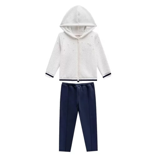 Conjunto Infantil Feminino - Pérolas - Off-white - Milon