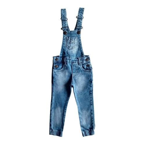 Jardineira Infantil Jogger Masculina - Jeans