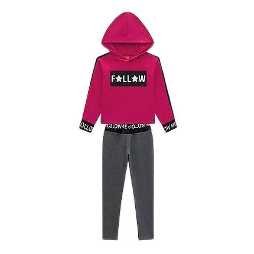 Conjunto Infantil Feminino - F🌟LL🌟W - Pink - Kyly