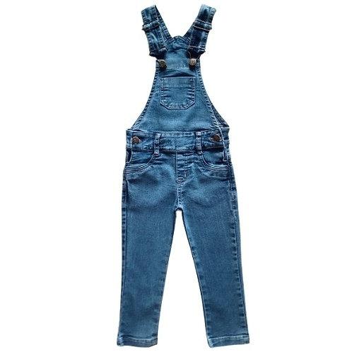 Jardineira Infantil Masculina - Jeans Claro