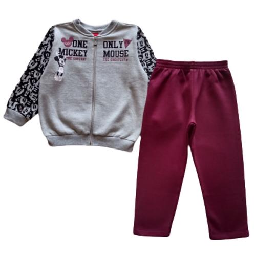 Conjunto Infantil Masculino - Mickey - Cinza - Cativa