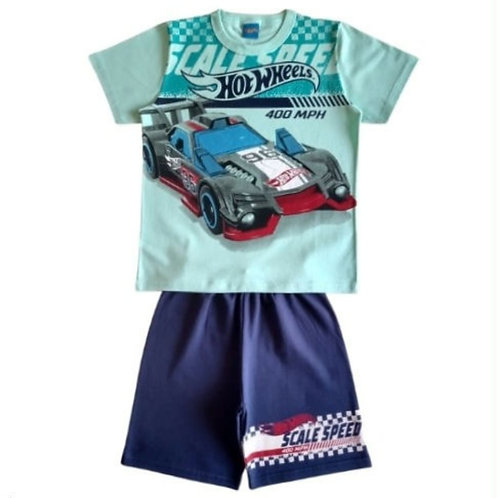 Conjunto Infantil Masculino - Hot Wheels - Azul - Romitex