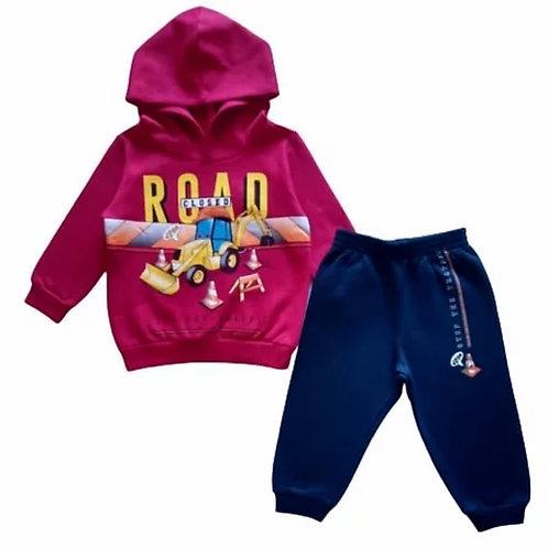 Conjunto Infantil Masculino - Road - Vermelho - Cativa
