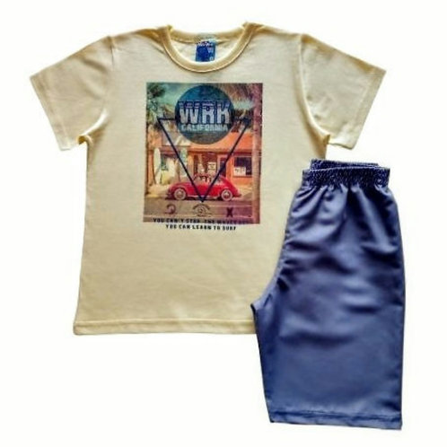 Conjunto Infantil Masculino - Fusca - Amarelo - WRK