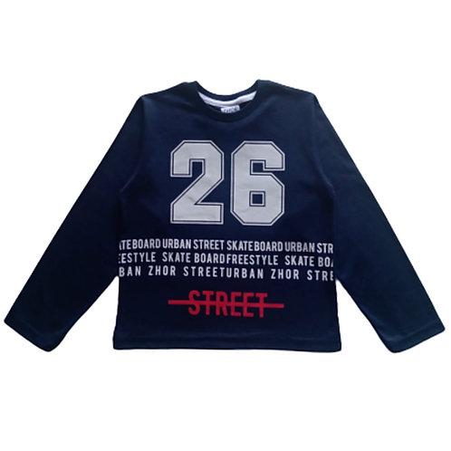 Camiseta Infantil Masculina - Street - Marinho - Zhor Kids