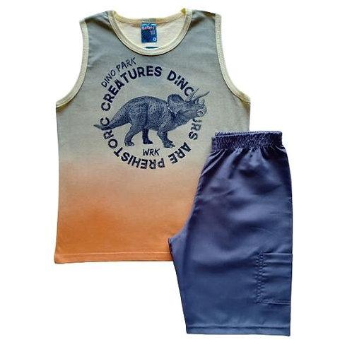 Conjuto Infantil Masculino - Dino Park - Amarelo - WRK