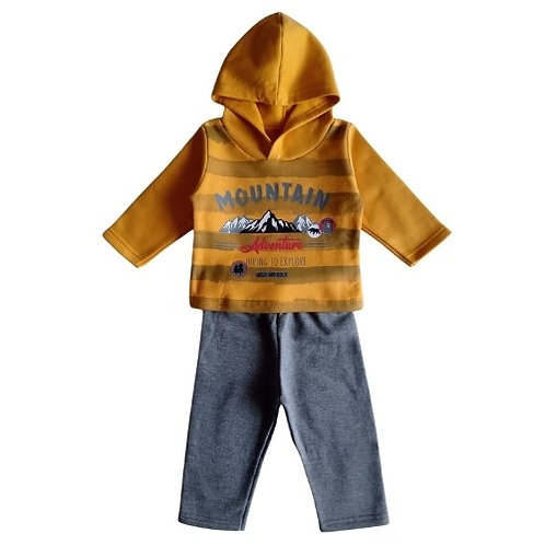 Conjunto Infantil Masculino - Montanha - Amarelo - Elian