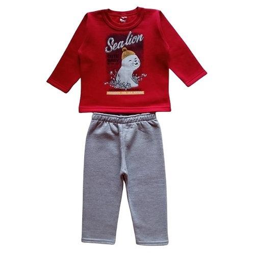 Conjunto Infantil Menino - Foca - Vermelho - Elian