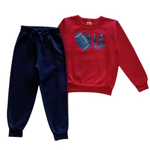 Conjunto Infantil Masculino - Big - Vermelho - Elian
