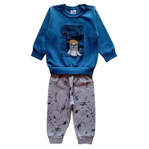 Conjunto Infantil Menino - Foca - Azul - Elian