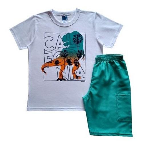 Conjunto Infantil Masculino - Califórnia - Branco - WRK