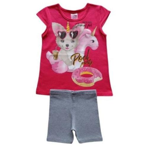 Conjunto Infantil Feminino -  Dog - Pink - Kely Kety