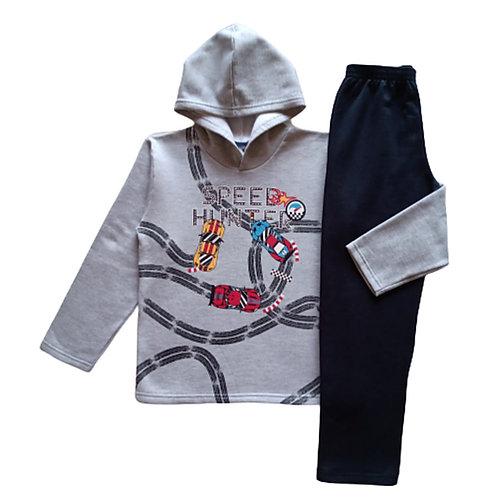 Conjunto Infantil Masculino - Speed - Cinza - WRK