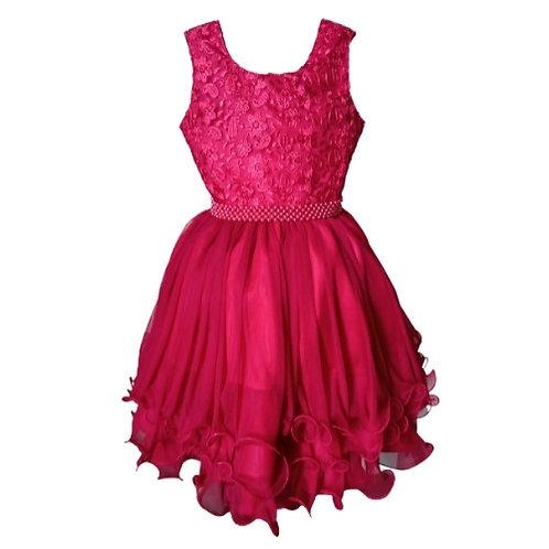 Vestido Infantil Festa - Vermelho