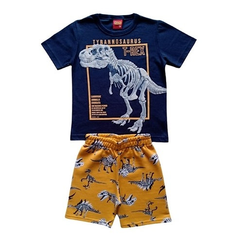 Conjunto Infantil Masculino - Tiranossauro - Marinho - Kyly