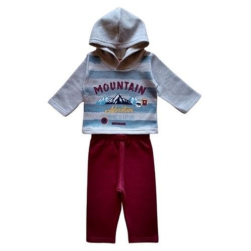 Conjunto Infantil Menino - Montanha - Cinza - Elian