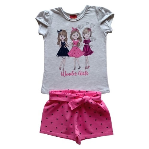 Conjunto Infantil Feminino - Girls - Cinza - Kyly