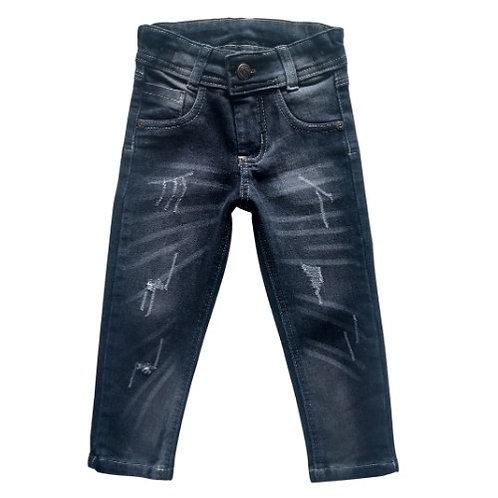 Calça Jeans Infantil Masculina - Preta