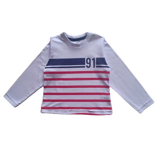 Camiseta  Infantil Masculina - 91 - Branca - Zhor Kids