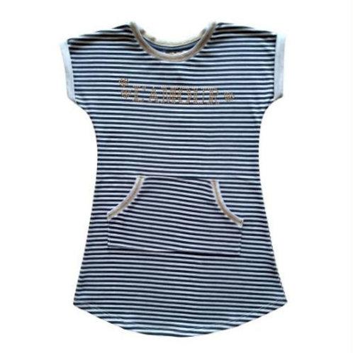 Vestido Infantil - Listrado - Cinza - Milon