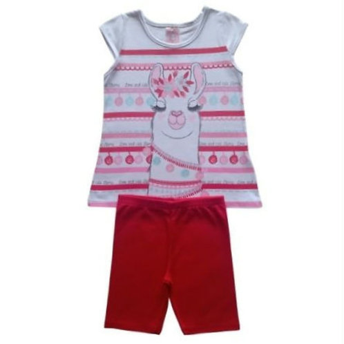 Conjunto Infantil Feminino - Lhama - Branco - Kely Kety
