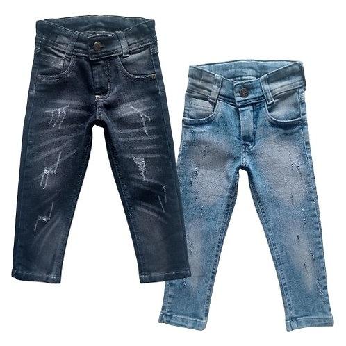 Kit 2 Calças Jeans Infantil Masculina