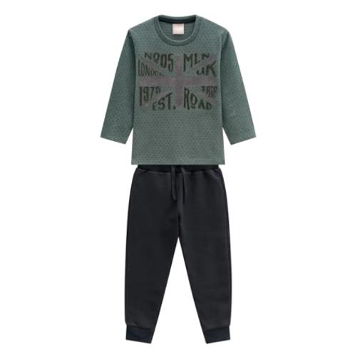 Conjunto Infantil Masculino - London - Verde - Milon