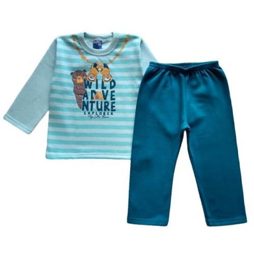 Conjunto Infantil Masculino - Adventure - Azul - WRK
