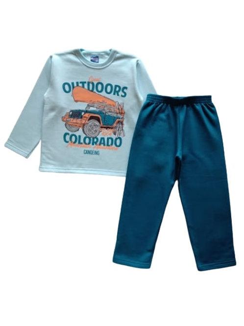 Conjunto Infantil Masculino - Outdoors - Azul - WRK