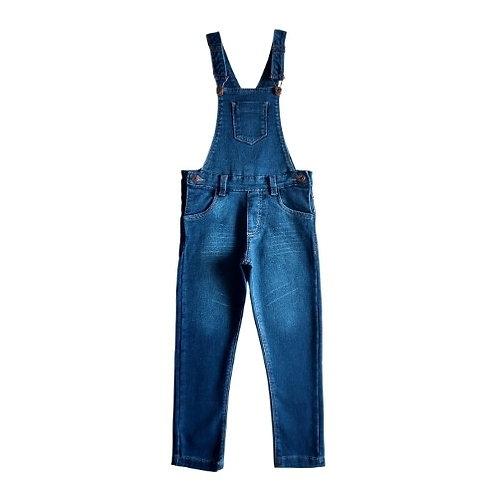 Jardineira Infantil Masculina - Jeans - Azul
