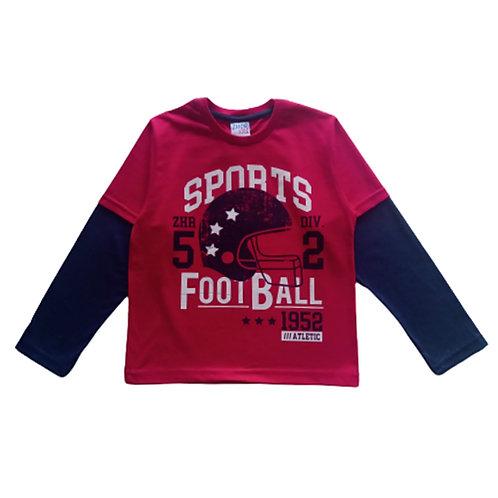 Camiseta  Infantil Masculina - Sports - Vermelha - Zhor Kids
