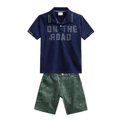 Conjunto Infantil Masculino - Road - Marinho - Milon