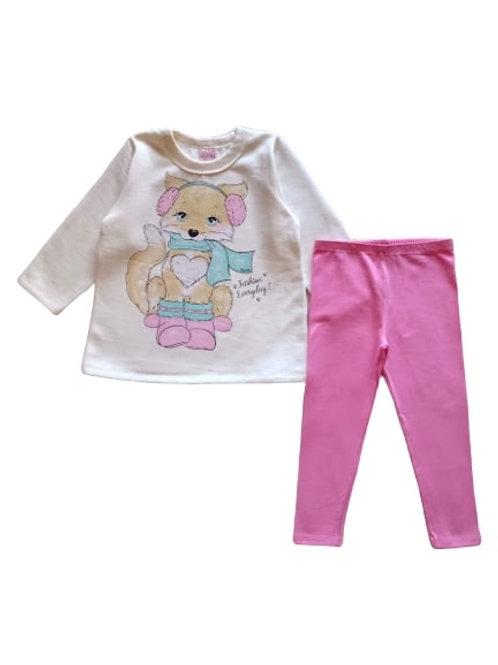 Conjunto Infantil feminino - Fashion - Bege - Kely Kety