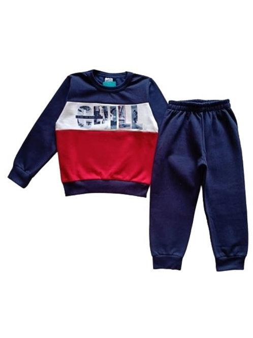Conjunto Infantil Masculino - CHILL - Marinho - Elian