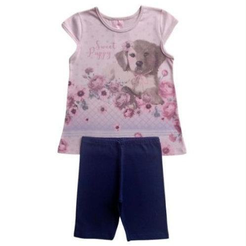 Conjunto Infantil Feminino - Dog - Rosa - Kely Kety