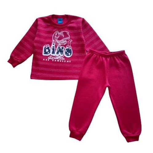 Conjunto Infantil Masculino - Dino - Vermelho - WRK