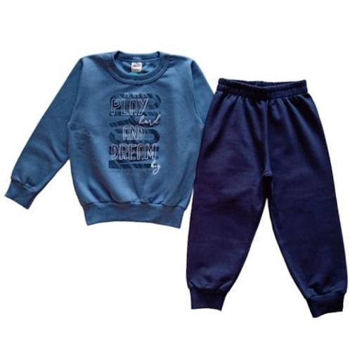 Conjunto Infantil Masculino - Play - Azul - Elian
