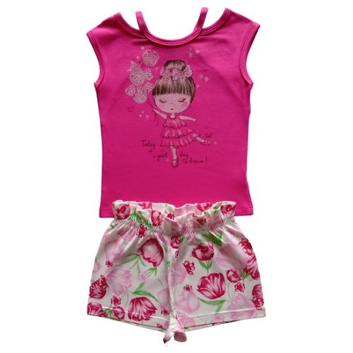Conjunto Infantil Feminino - Menina - Pink - Kely Kety
