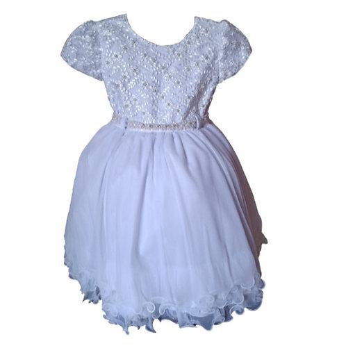Vestido Infantil Festa - Branco