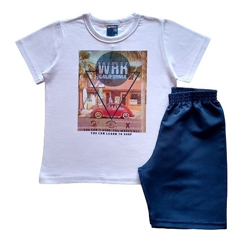 Conjunto Infantil Masculino - Fusca - Branco - WRK